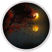Fiery Fall... Round Beach Towel by Tim Fillingim