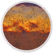 Round Beach Towel featuring the photograph Fiery Horizon by Sami Tiainen
