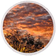 Fiery Sunrise Over County Clare Round Beach Towel