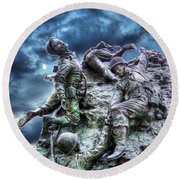 Fight On Round Beach Towel by Dan Stone
