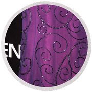 Fighting Sequins Horizontal Round Beach Towel