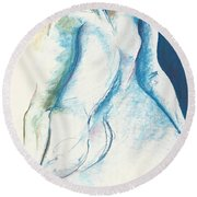 Figurative Abstract Round Beach Towel