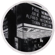 Film Homage Alfred Hitchcock Torn Curtain 1966 Orpheum Theater St. Paul Minnesota 1966 Round Beach Towel