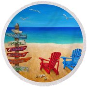 Finding Paradise Round Beach Towel