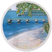 Finding Flagler Round Beach Towel