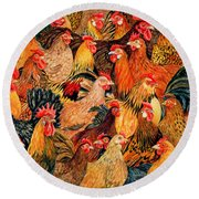 Fine Fowl Round Beach Towel
