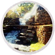 Finlay Park Fountain Round Beach Towel