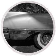 Round Beach Towel featuring the photograph Finni by John Schneider