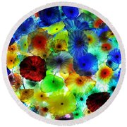 Round Beach Towel featuring the photograph Fiori Di Como By Glass Sculptor by Gandz Photography
