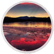 Fire And Ice At Price Round Beach Towel
