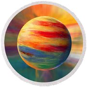 Fire And Ice Ball  Round Beach Towel