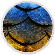 Fire And Ice Round Beach Towel by Skip Hunt