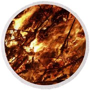 Fire Blaze Round Beach Towel