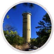 Fct7 Fire Control Tower #7 - Observation Tower Round Beach Towel
