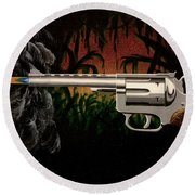 Fire In The Jungle Round Beach Towel by Jack Malloch