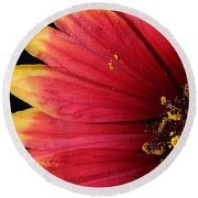 Round Beach Towel featuring the photograph Fire Spokes by Paul Rebmann