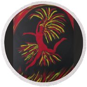 Firebird Round Beach Towel