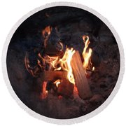 Fireside Seat Round Beach Towel by Michael Porchik