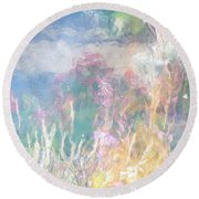 Fireweed Number 9  Round Beach Towel