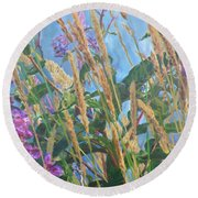 Round Beach Towel featuring the photograph Fireweed Number Six by Brian Boyle