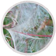 Fireweed Number One Round Beach Towel