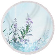 Fireweed Number Two Round Beach Towel by Brian Boyle