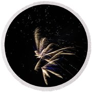 Fireworks - Dragonflies In The Stars Round Beach Towel