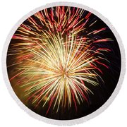 Fireworks Over Chesterbrook Round Beach Towel by Michael Porchik