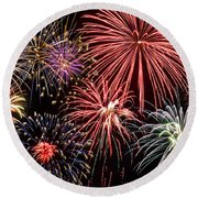 Fireworks Spectacular IIi Round Beach Towel