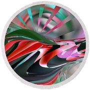 First Light - Abstract Round Beach Towel by Roy Erickson