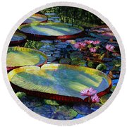 First Morning Light Round Beach Towel