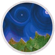 First Star Wish By Jrr Round Beach Towel by First Star Art