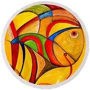 Fish 534-11-13 Marucii Round Beach Towel