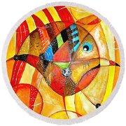 Fish 716-14 Marucii Round Beach Towel