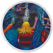 Fish Dreams Round Beach Towel