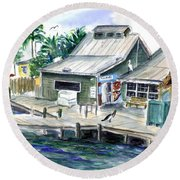 Fish House Round Beach Towel