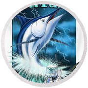Fish Tales Round Beach Towel