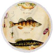 Fish Trio-c Round Beach Towel