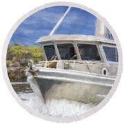 Fisherman's Prayer - West Coast Art Round Beach Towel