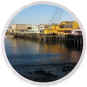 Fisherman's Wharf Round Beach Towel