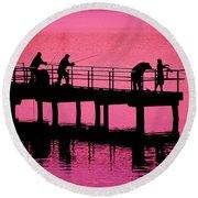 Fishermen Round Beach Towel