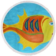 Fishie Round Beach Towel