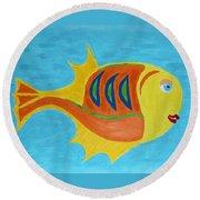 Fishie Round Beach Towel