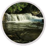 Round Beach Towel featuring the photograph Fishing Hole by Sherman Perry