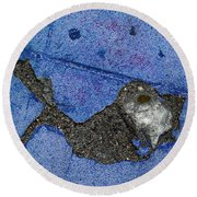 Fishing In The Cement Pond Round Beach Towel
