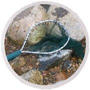 Fishing Net Round Beach Towel by Kerri Mortenson