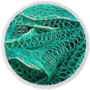 Fishing Nets Round Beach Towel by Jane McIlroy