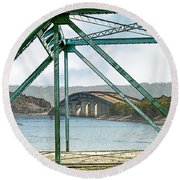 Fitzhugh And Mcwherter Round Beach Towel