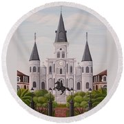 Five Fifteen In New Orleans Round Beach Towel