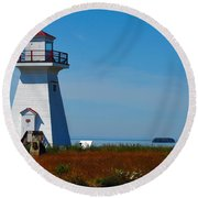Five Islands Lighthouse Round Beach Towel